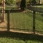 Satin Bronze Flattop with Puppy Picket and Arched Gate