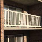 Tan PVC Balcony Railing