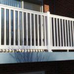White PVC Balcony Railing