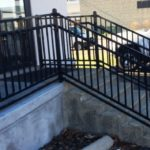 ADA Railing in Black up Stairs