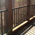 Black Aluminum Balcony Railing between Pillars