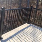 Black Aluminum Balcony Railing