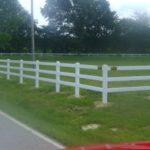 White Three Rail Ranch Rail