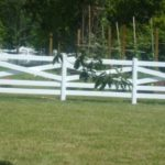 White PVC Crossbuck Fence