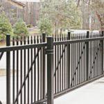 Black Aluminum Cantilever Gate