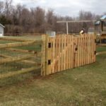 3 Rail Split Rail with Liner with Roll Top Picket Gate