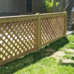 4′ Tall Lattice Good Neighbor Fence