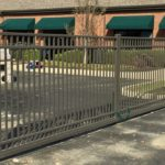 Bronze Aluminum Double Drive Gate
