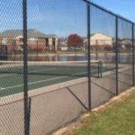 Black Chain Link Tennis Court Enclosure