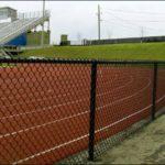 Black Chain Link  around School Athletics Field