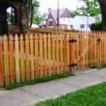 French Gothic Picket Fence with Single Gate