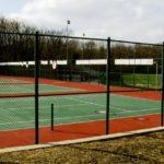 Green Chain Link Tennis Court Enclosure