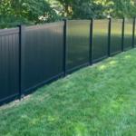 Black PVC Privacy Fence