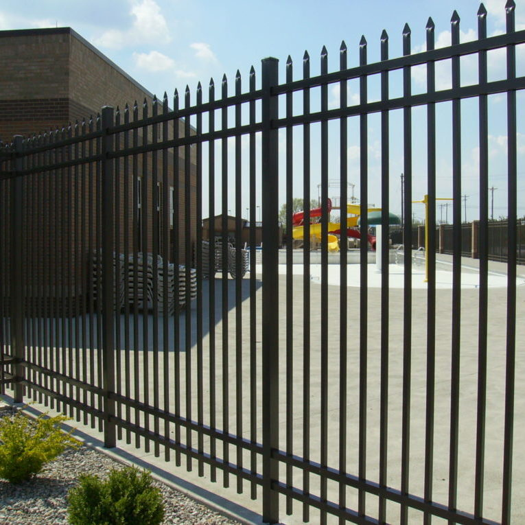 A fence that was put up by a fence company in Ohio